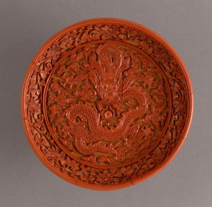 Diaoqi - carved laquer dish