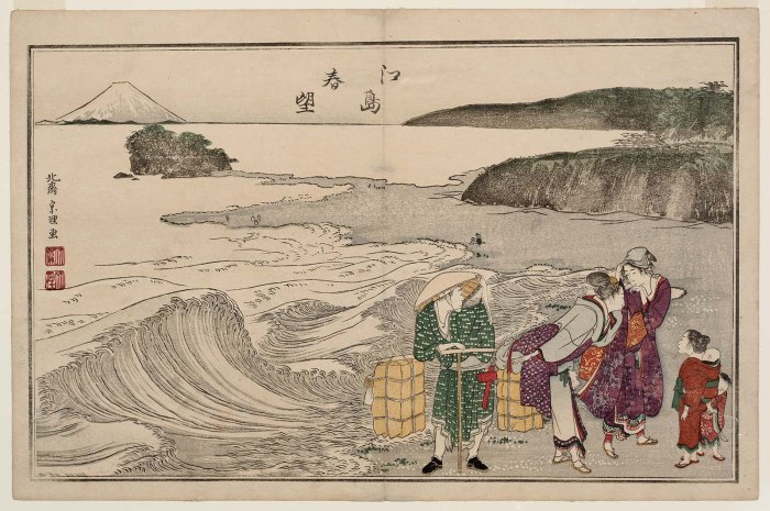 Spring View at Enoshima by Hokusai